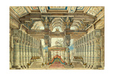 Stage Design for the Ballet Caesar in Egypt by G. Haendel, 1834 Giclee Print by Andreas Leonhard Roller