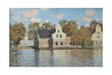 Houses at the Bank of the River Zaan, 1871-1872 Impressão giclée por Claude Monet