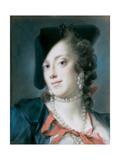 A Venetian Lady from the House of Barbarigo (Caterina Sagredo Barbarig), Ca 1735-1739 Giclee-trykk av Rosalba Giovanna Carriera