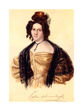Portrait of Prasovya Annenkova, Wife of Decembrist Iwan Annenkow, 1836 Giclee Print by Nikolai Alexandrovich Bestuzhev