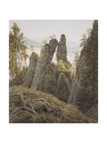 The Rock Gates in Neurathen, Between 1826 and 1828 Giclee Print by Caspar David Friedrich