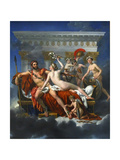 Mars Being Disarmed by Venus, 1824 Giclee Print by Jacques Louis David