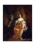 Portrait of Queen Mary II of England, (1662-169), 1683 Giclee Print by Caspar Netscher