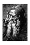 Study of an Old Man, Late 15th - Early 16th Century Reproduction procédé giclée par Albrecht Durer