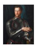 Portrait of Grand Duke of Tuscany Cosimo I De' Medici (1519-157) in Armour, Ca 1545 Giclée-tryk af Agnolo Bronzino