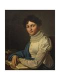 Portrait of the Poetess Anna Bunina (1774-182), 1825 Giclée-Druck von Mikhail Prokopyevich Vishnevitsky