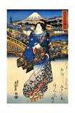 Nihonbashi in Edo, 1852 Giclee Print by Keisai Eisen