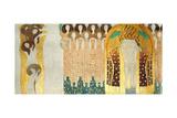 The Beethoven Frieze, Detail: the Arts, Chorus of Paradise, Embrace, 1902 Giclée-Druck von Gustav Klimt
