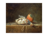 Still Life with Partridge and Pear, 1748 Giclee Print by Jean-Baptiste Simeon Chardin