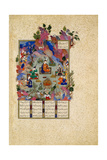 The Feast of Sada. from the Shahnama (Book of King), C. 1525 Giclée-tryk af Sultan Muhammad