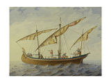Stage Design for the Ballet Corsair by A. Adam, 1863 Giclee Print by Andreas Leonhard Roller
