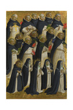 The Dominican Blessed (Panel from Fiesole San Domenico Altarpiec), C. 1423-1424 Giclée-tryk af  Fra Angelico