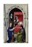The Nativity of John the Baptist (The Altar of St. John, Left Panel), Ca 1455 Giclée-tryk af Rogier van der Weyden