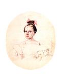 Portrait of Olga Annenkova, Daughter of Decembrist Iwan Annenkow, 1836 Giclee Print by Nikolai Alexandrovich Bestuzhev
