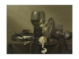 Still Life with Oysters, a Rummer, a Lemon and a Silver Bowl, 1634 Lámina giclée por Willem Claesz Heda