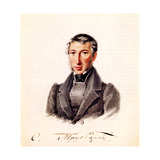 Portrait of Decembrist Prince Sergei Petrovich Trubetskoy (1790-186), 1839 Giclee Print by Nikolai Alexandrovich Bestuzhev