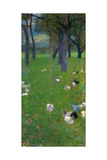 After the Rain (Garden with Chickens in St. Agath), 1898 Impressão giclée por Gustav Klimt