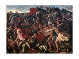 Victory of Joshua over the Amalekites, 1625-1626 Stampa giclée di Nicolas Poussin