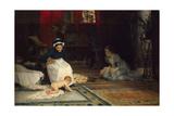 In the Nursery, 1885 Giclée-tryk af Albert Gustaf Aristides Edelfelt