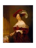 Portrait of Countess Yelizaveta Ksaweryevna Vorontsova (1792-188), 1832 Giclee Print by George Hayter