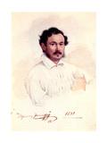Portrait of Decembrist Duke Dmitry Shchepin-Rostovsky (1798-185), 1839 Giclee Print by Nikolai Alexandrovich Bestuzhev