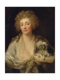 Portrait of Anna Oraczewska with the Dog, 1789 Giclée-tryk af Anton Graff