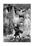 Hamlet, 1899 Giclee Print by Albert Robida