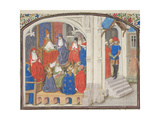 The Council of Clermont in 1095. Miniature from the Historia by William of Tyre, 1460S Giclee Print