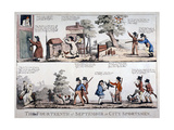 The Fourteenth of September Or, City Sportsmen, 1798 Giclee Print by George Moutard Woodward