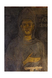 Saint Francis of Assisi (Detail of His Oldest Portrai), 13th Century Giclée-tryk