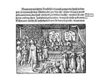 A Meal of Tsar (From Die Moskouitische Chronica by S. Herberstei), 1579 Giclee Print