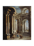 The Healing of Blind Man of Jericho Giclée-tryk af Sebastiano Ricci