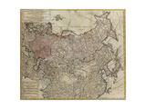 Karte von Russland Giclée-Druck von Johann Matthias Hase