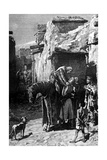 St Louis, King of France, Seeking Refuge from the Saracens Gicléetryck av Edouard Zier