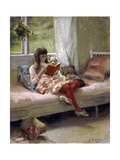 Good Friends, 1881 Giclée-tryk af Albert Gustaf Aristides Edelfelt