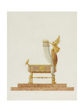 Design of the Bassinet for His Majesty the King of Rome, 1811 Giclee Print by Charles Percier