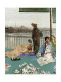 Variations in Flesh Colour and Green: the Balcony, C. 1870 Gicléedruk van James Abbott McNeill Whistler