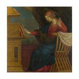 The Virgin Mary (Panel from an Altarpiece: the Annunciatio), before 1511 Giclée-tryk af Gaudenzio Ferrari