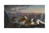 North-East View from the Northern Top of Mount Kosciusko, 1863 Giclée-tryk af Eugene Von Guerard