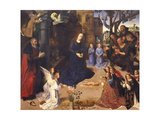 The Adoration of the Shepherds (The Portinari Triptyc), Ca 1478 Giclée-tryk af Hugo van der Goes