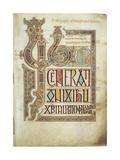 The Lindisfarne Gospels, 715-721 Giclee-trykk