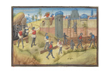 The Siege of Jerusalem, 1099. Miniature from the Historia by William of Tyre, 1460S Giclee Print