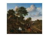Portrait of a Couple with Two Children and a Nursemaid in a Landscape, 1667 Giclée-Druck von Adriaen van de Velde