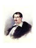 Portrait of Decembrist Alexander Alexandrovich Bestuzhev (1797-183), 1839 Giclee Print by Nikolai Alexandrovich Bestuzhev