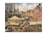 The Fair in Dieppe, Sunny Morning, 1901 Reproduction procédé giclée par Camille Pissarro