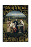 The Cure of Folly (Extraction of the Stone of Madnes), Between 1488 and 1516 Giclée-Druck von Hieronymus Bosch