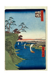 View of Konodai and the Tone River (One Hundred Famous Views of Ed), 1856-1858 Giclee Print by Utagawa Hiroshige