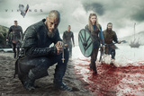 Vikings Blood Landscape Kunstdruck