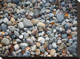 Pebbles, Little Hunters Beach Stretched Canvas Print by Michael Hudson
