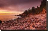 Morning, Monument Cove Stretched Canvas Print by Michael Hudson